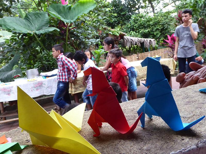 Kinder Event in der Stiftung zum Thema Recycling